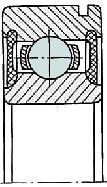 Подшипник закрытый с канавкой коробки ВАЗ